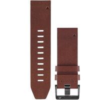 GARMIN náhradní kožený řemínek pro Fenix 5X a Fenix 3 QuickFit™ 26, hnědý - 010-12517-04