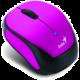 Genius Micro Traveler 9000R V2, bezdrátová, černá/fialová
