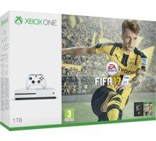 XBOX ONE S, 1TB, bílá + FIFA 17 - 234-00032 + Hra Gears of War 4