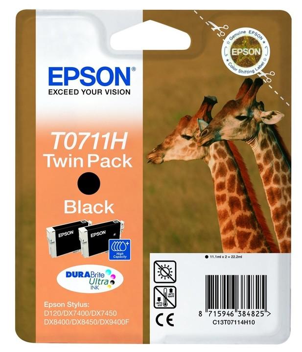Epson C13T07114H10, černá, double pack