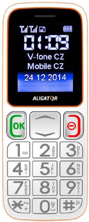 Aligator A320 Senior, bílá/oranžová