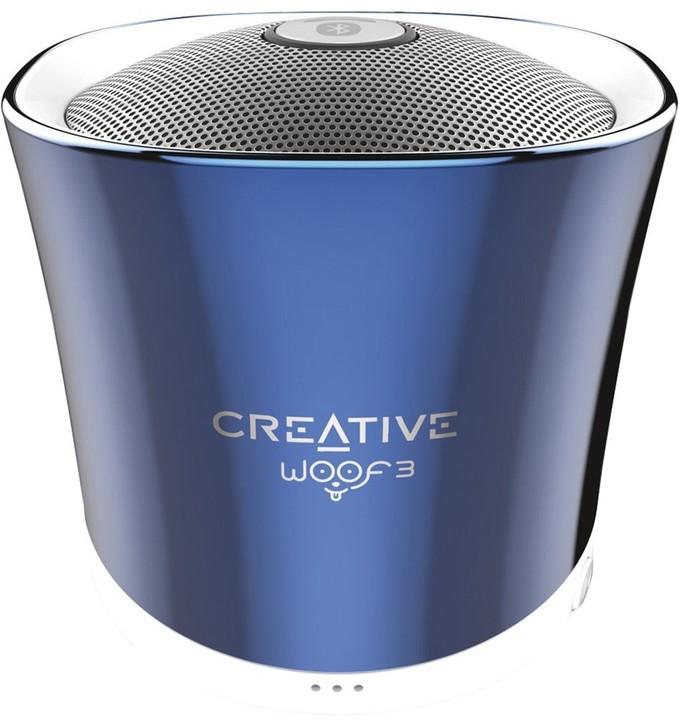 Creative WOOF3, přenosný, modrá