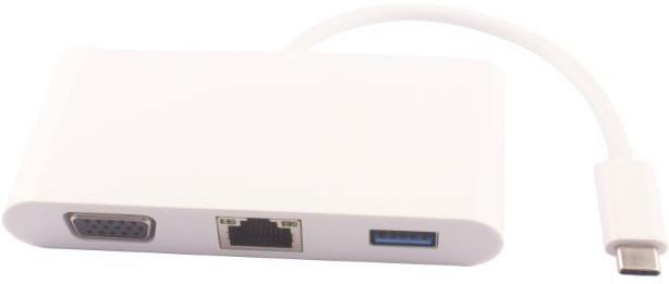 MicroConnect USB - C Male to USB3.0/ RJ45 /VGA