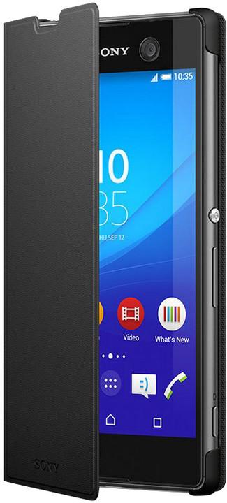 Sony SCR48 Style Cover pro Sony Xperia M5, černá