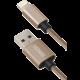 YENKEE YCU 601 GD USB / lightning kabel 1 m, zlatá  + Zdarma Promobox baterie 1x8BP LR6 AA FUJITSU v ceně 169,- Kč