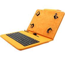 """C-TECH PROTECT NUTKC-01, pouzdro s klávesnicí pro 7-7.85"""", oranžová - NUTKC-01O"""