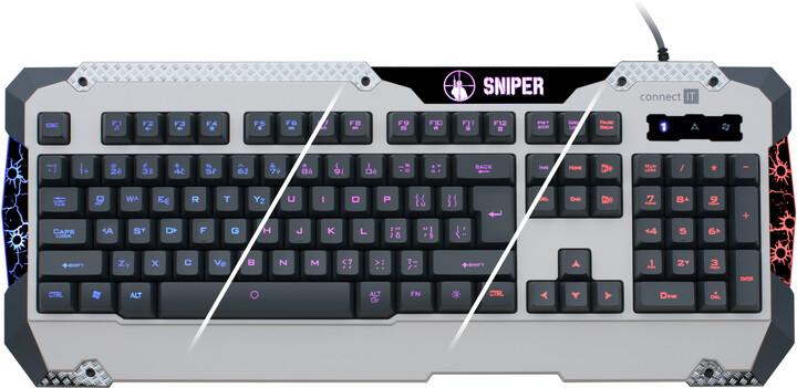 CONNECT IT Sniper, bílá