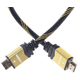 PremiumCord GOLD HDMI High Speed + Ethernet kabel, zlacené konektory, 1m