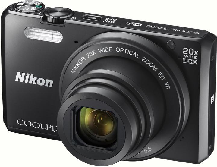 Nikon Coolpix S7000, černá + pouzdro