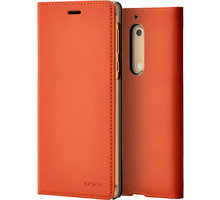 Nokia Slim Flip Case CP-302 for Nokia 5, hnědá - CP-302 brown