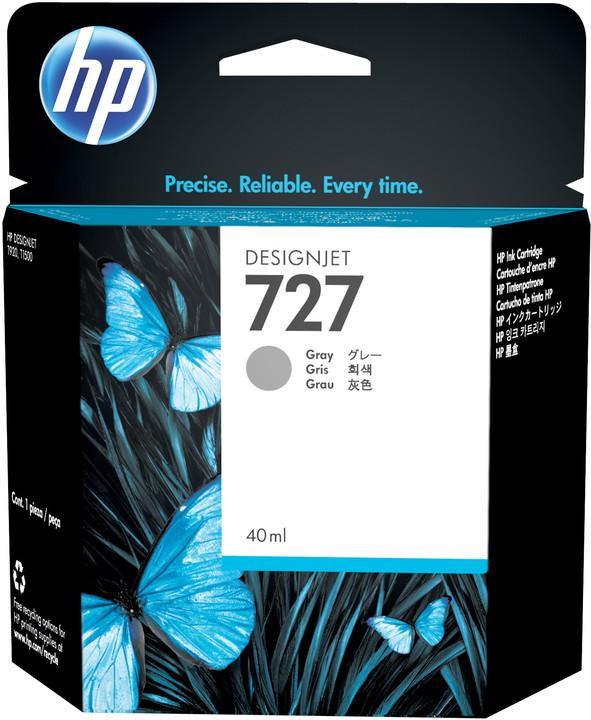 HP B3P18A náplň č.727, šedá