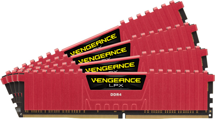 Corsair Vengeance LPX Red 16GB (4x4GB) DDR4 3000 CL15