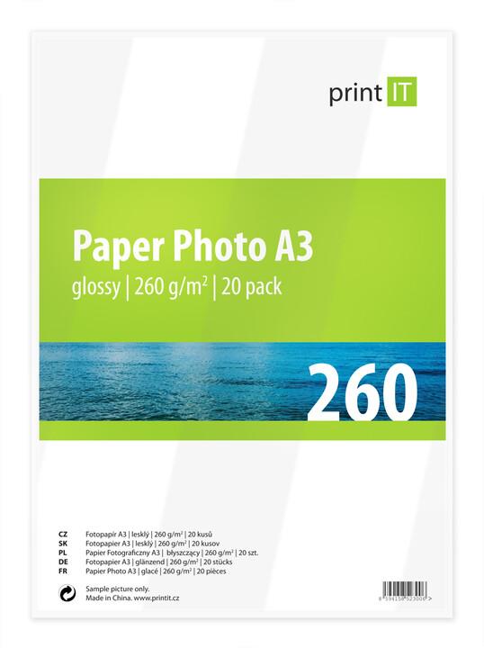 PRINT IT Paper Photo A3 260g/m2 Glossy 20ks