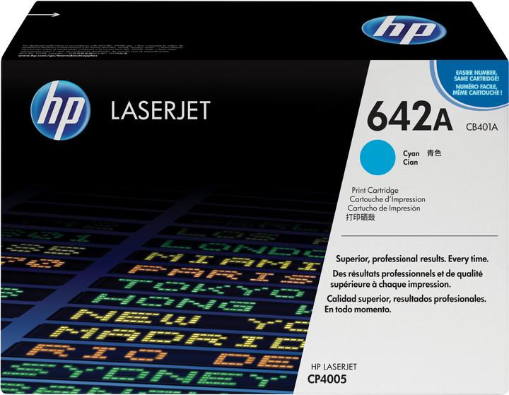 HP CB401A, azurová (cyan)