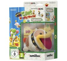 Poochy & Yoshi's Woolly World + Amiibo Yarn Poochy (3DS) - 045496474546