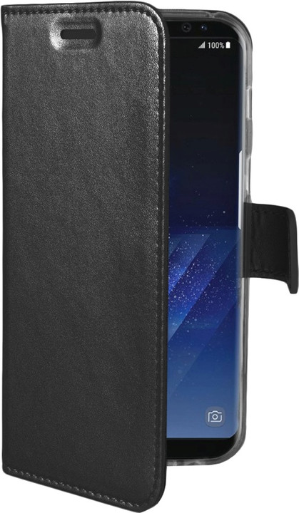 CELLY Air Pouzdro typu kniha pro Samsung Galaxy S8 Plus, PU kůže, černé