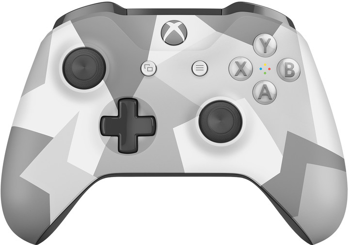 Microsoft Xbox ONE S Gamepad, bezdrátový, bílá/šedá kamufláž (Xbox ONE S)