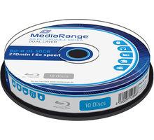 MediaRange BD-R DL, 6x, 50GB, 10ks, Spindle - MR507