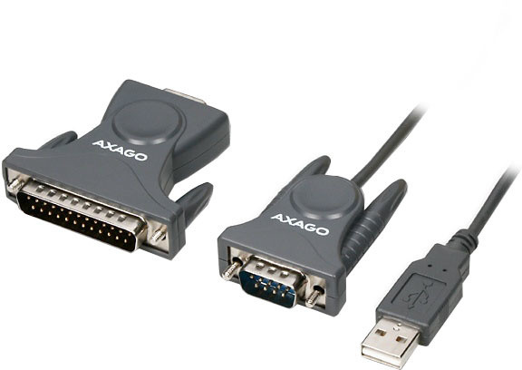 AXAGON USB2.0 - seriový RS-232 DB9 + DB25 adapter