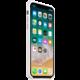 Apple silikonový kryt na iPhone X, bílá