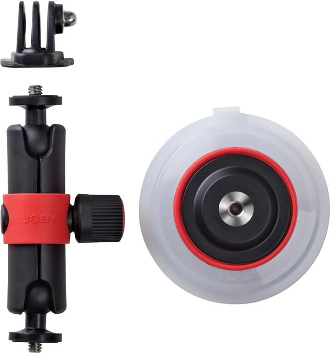 JOBY Suction Cup&Locking Arm, černá/červená