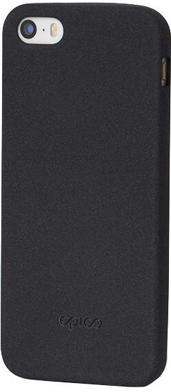 EPICO pružný plastový kryt pro iPhone 5/5S/SE RUBY - černý