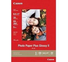 Canon Foto papír Plus Glossy II PP-201, A4, 20 ks, 260g/m2, lesklý - 2311B019