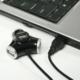 AXAGO - HUE-X3 externí 4x USB2.0 TRINITY hub černý