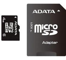 ADATA Micro SDHC 16GB Class 4 + adaptér - AUSDH16GCL4-RA1