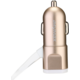 iMyMax Fast Charger Car Charger 3,4A, Micro USB/Lightning, zlatá