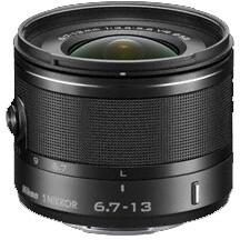 Nikkor 6,7-13 mm F3.5-5.6 VR 1, černá