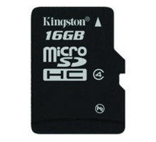 Kingston Micro SDHC 16GB Class 4 - SDC4/16GBSP
