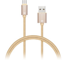 CONNECT IT Wirez Premium Metallic USB C - USB, gold, 1 m - CI-666