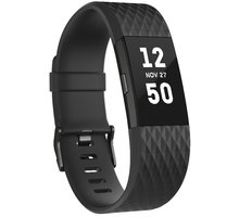 Fitbit Charge 2, L, černá/gunmetal - FB407GMBKL-EU