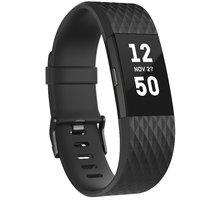 Fitbit Charge 2, S, černá/gunmetal - FB407GMBKS-EU