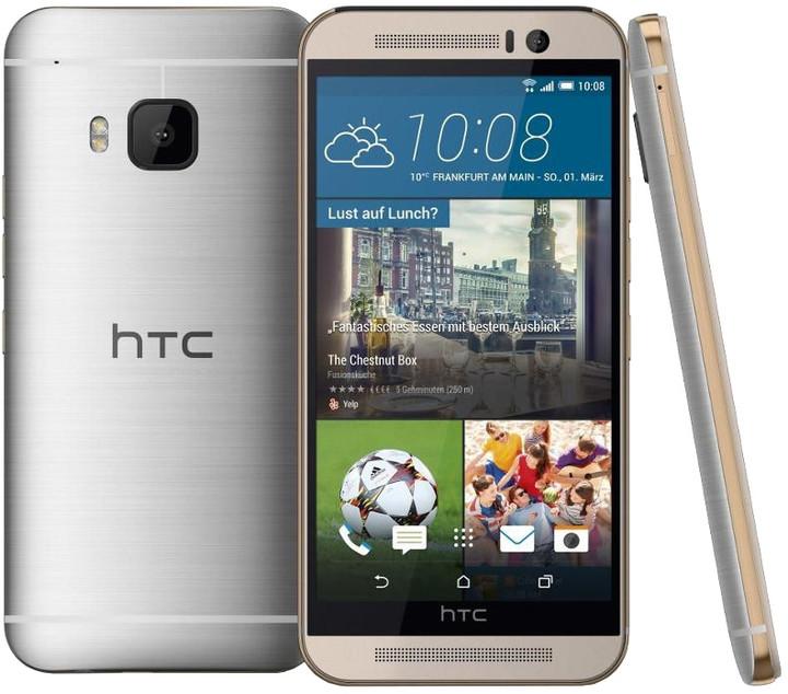 HTC One (M9), stříbrná /silver