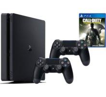 PlayStation 4 Slim, 1TB, černá + 2x DualShock 4 v2 + Call of Duty: Infinite Warfare - PS719856856