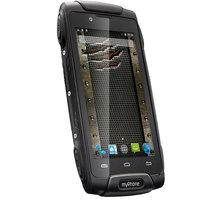 myPhone HAMMER AXE 3G, černá - TELMYAHAXE3GBK + Zdarma SIM karta Relax Mobil s kreditem 250 Kč
