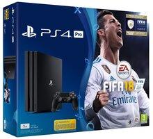 PlayStation 4 Pro, 1TB, černá + FIFA 18 - PS719914365