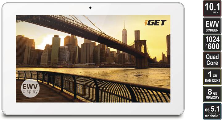 """iGET SMART S100 10,1"""" - 8GB, bílá"""