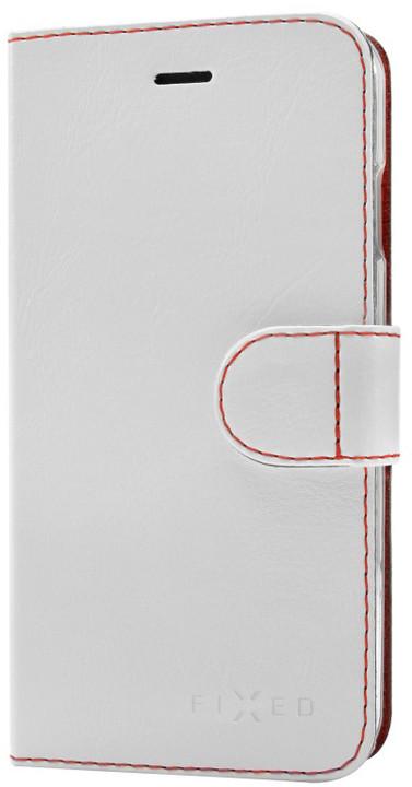 FIXED FIT pouzdro typu kniha pro Apple iPhone 5/5S/SE, bílé