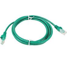 UTP kabel rovný kat.6 (PC-HUB) - 10m, zelená - 8592220005887