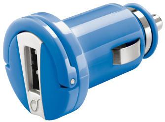 CellularLine mini autonabíječka s USB, 1A, modrá