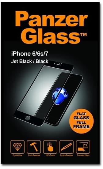 PanzerGlass - Ochrana obrazovky - hluboce černá - pro Apple iPhone 6, 6s, 7, 8
