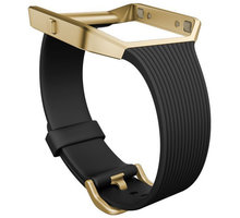 Fitbit Blaze Slim řemínek zlatý kov S, černá - FB159ABGBKS