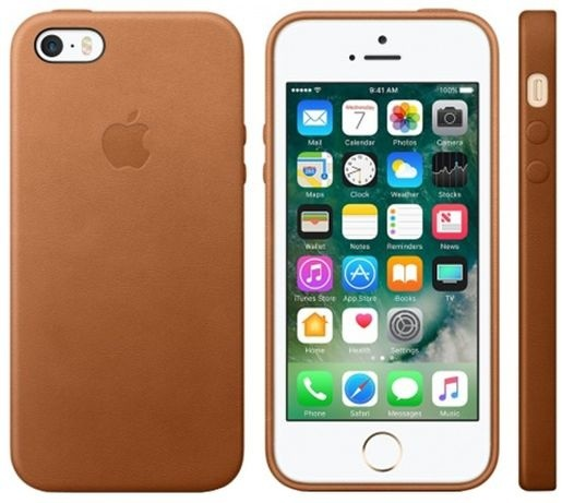 Apple iPhone SE Leather Case, Saddle Brown