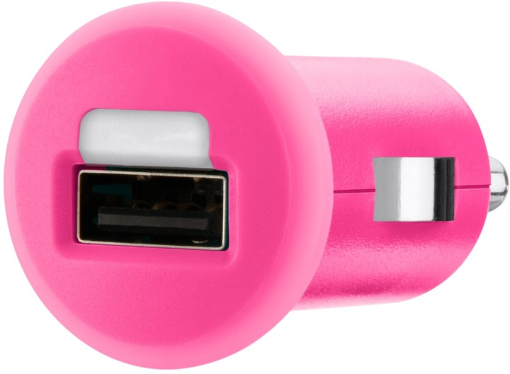 Belkin USB micro nabíječka MIXIT do autozásuvky 1x1A, růžová