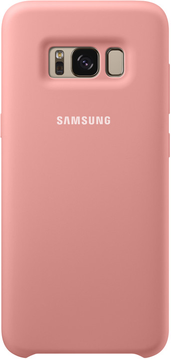 Samsung S8 silikonový zadní kryt, růžová