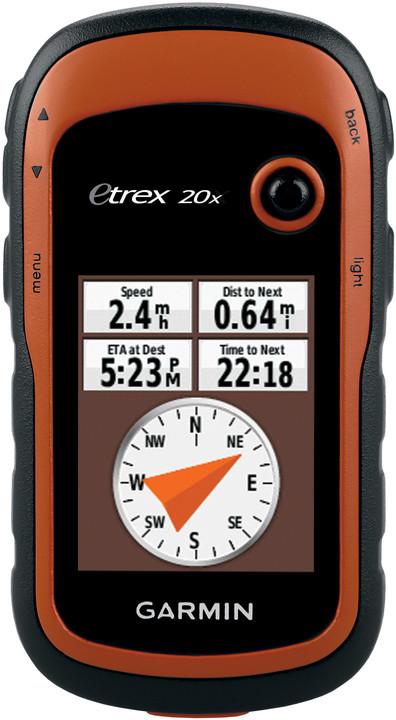 GARMIN eTrex 20x, východní Evropa