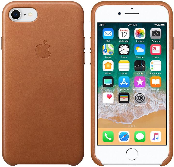 Apple kožený kryt na iPhone 8/7, sedlově hnědá